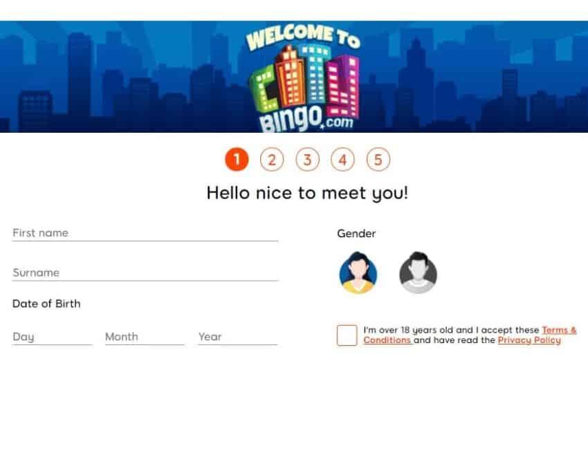 city bingo sign up