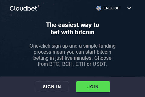Cloud Bet Front Page