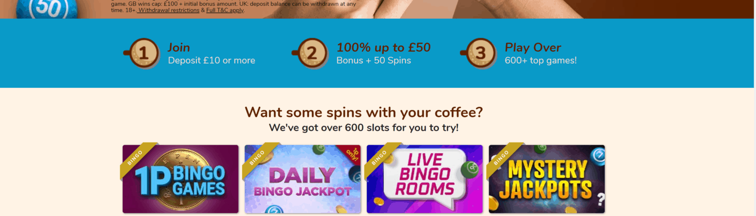 coffee bingo promotions