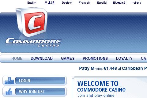 commodore casino Home