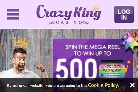 Crazy King Casino Home