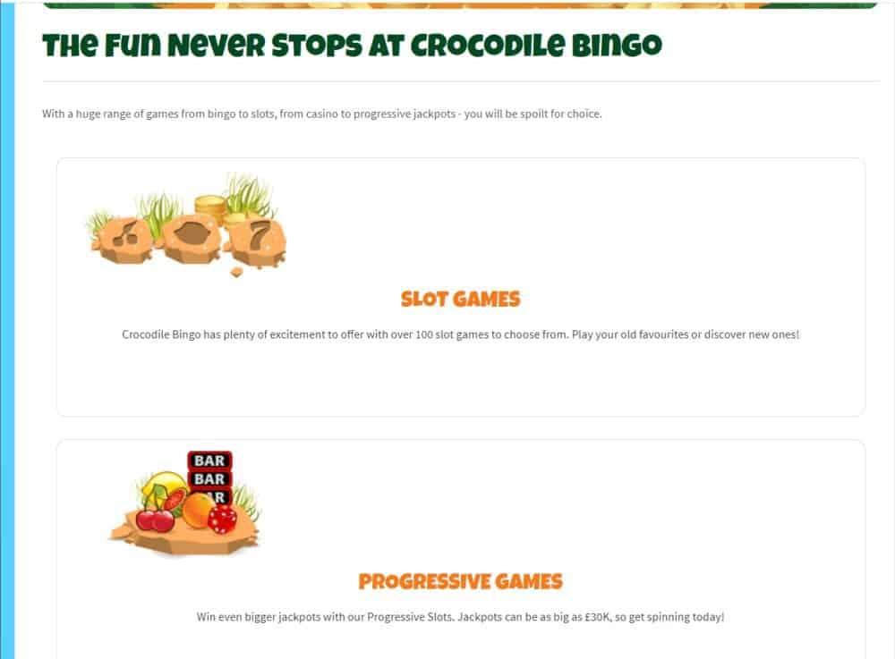 crocodile bingo games