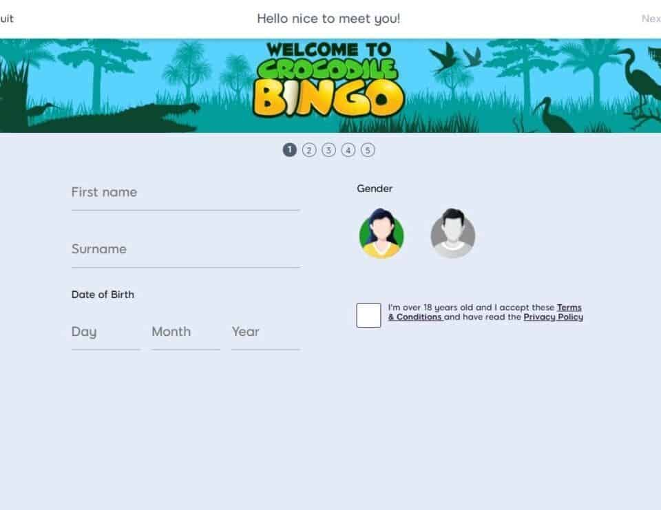 crocodile bingo sign up