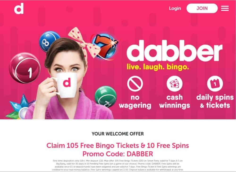 dabber bingo home