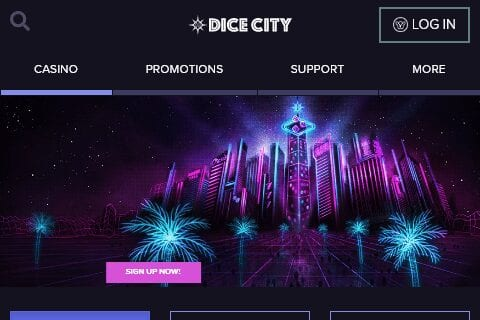 dice city casino front image