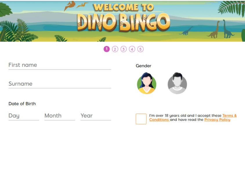 dino bingo sign up