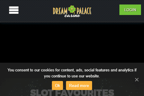 Dream Palace Casino Front Page