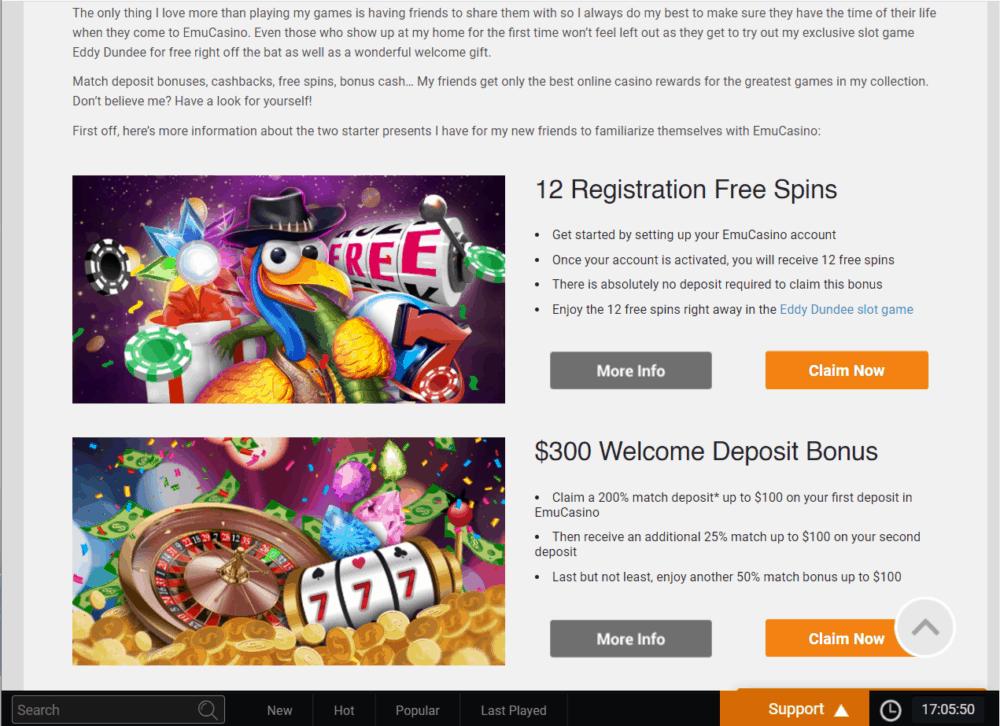 emu casino promo