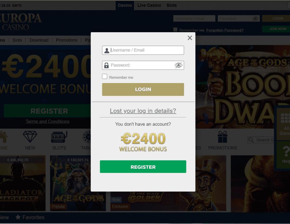 europa play login