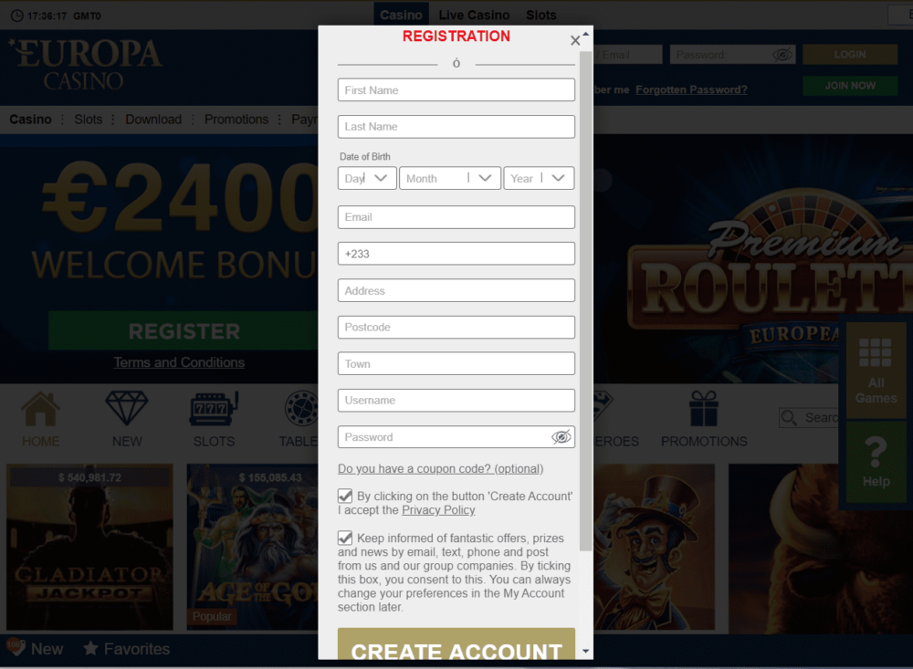 europa play sign up