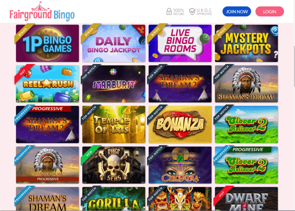 fairground bingo games
