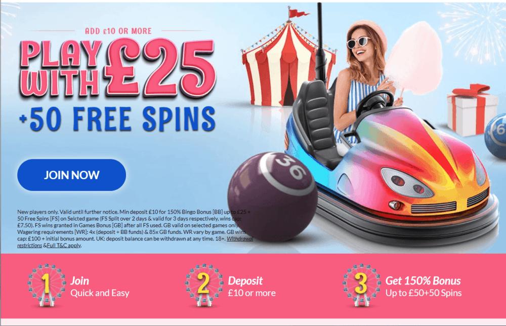 fairground bingo promo