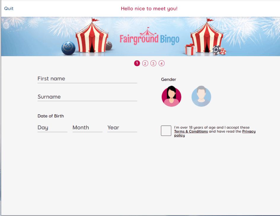 fairground bingo sign up