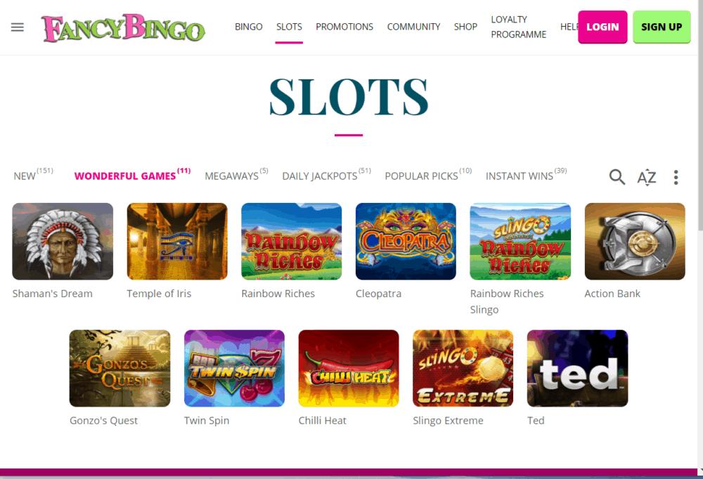 fancy bingo games