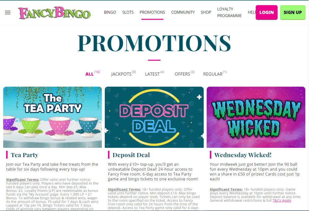 fancy bingo promo