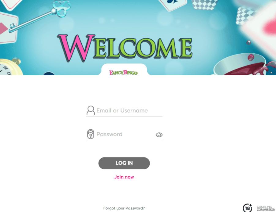 fancy bingo sign up
