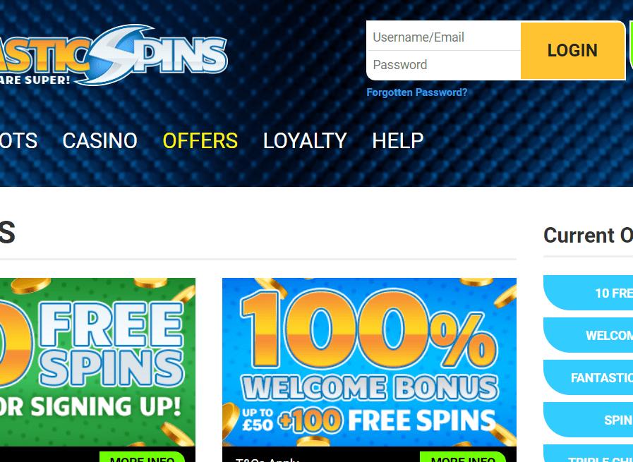 fantastic spins login