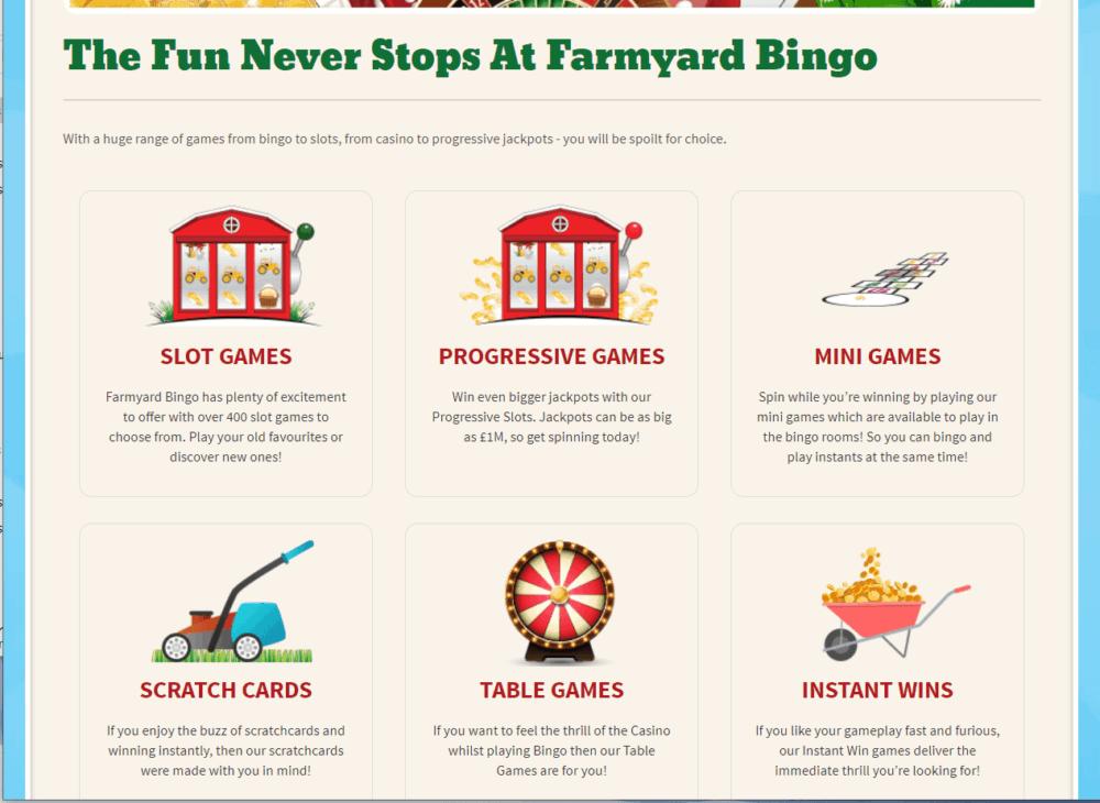 farmyard bingo games