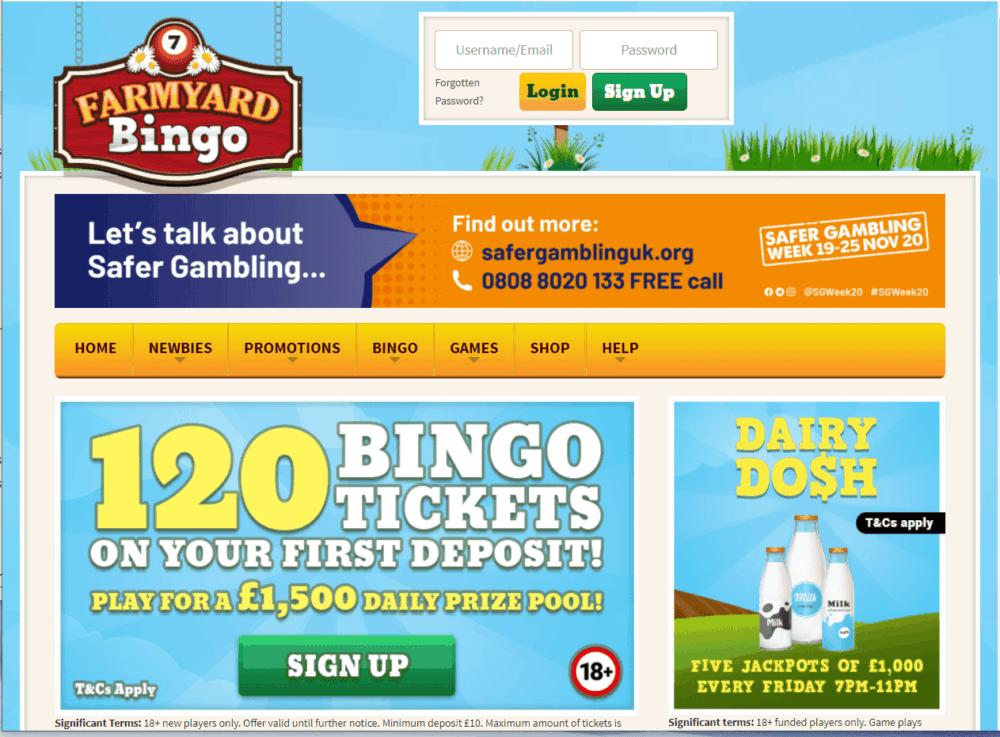 farmyard bingo home