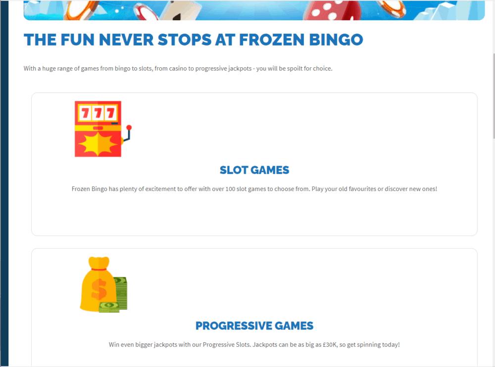 frozen bingo games