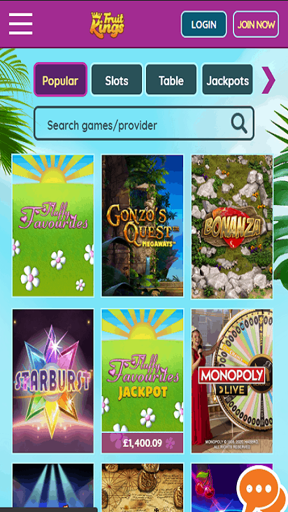 fruitkings game mobile