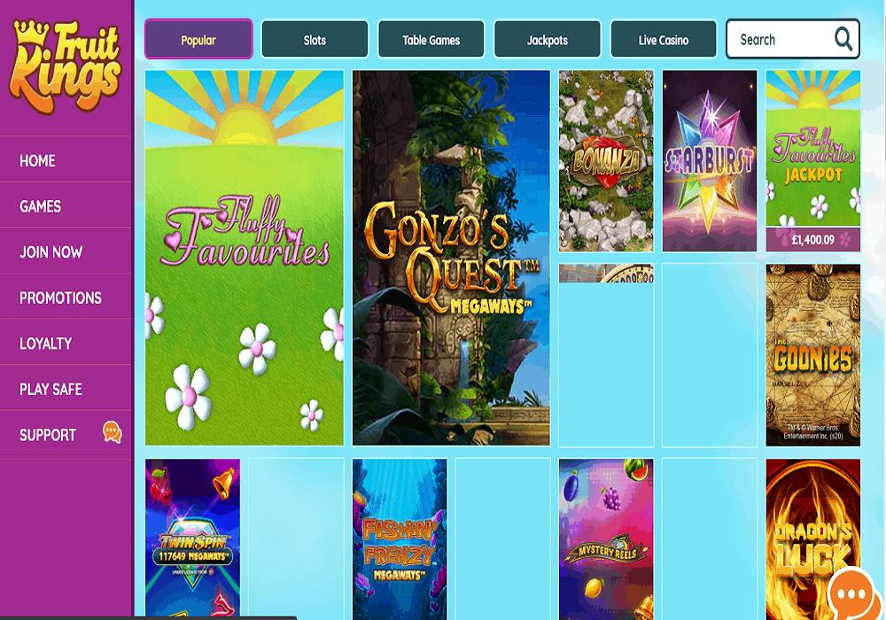 bingocams games page