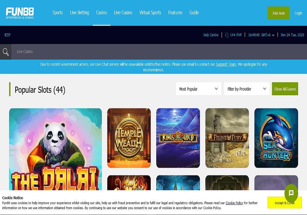 bet vision casino games