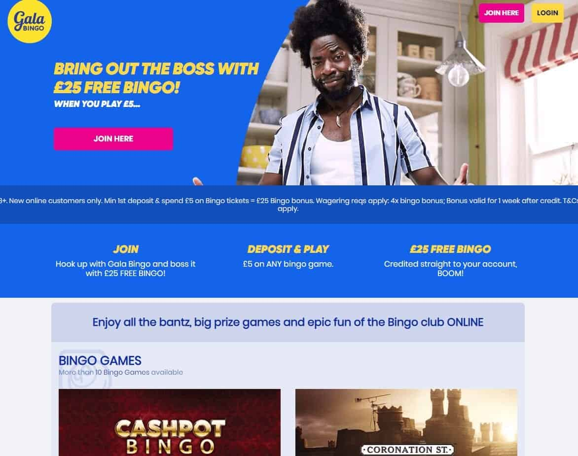 gala bingo home page