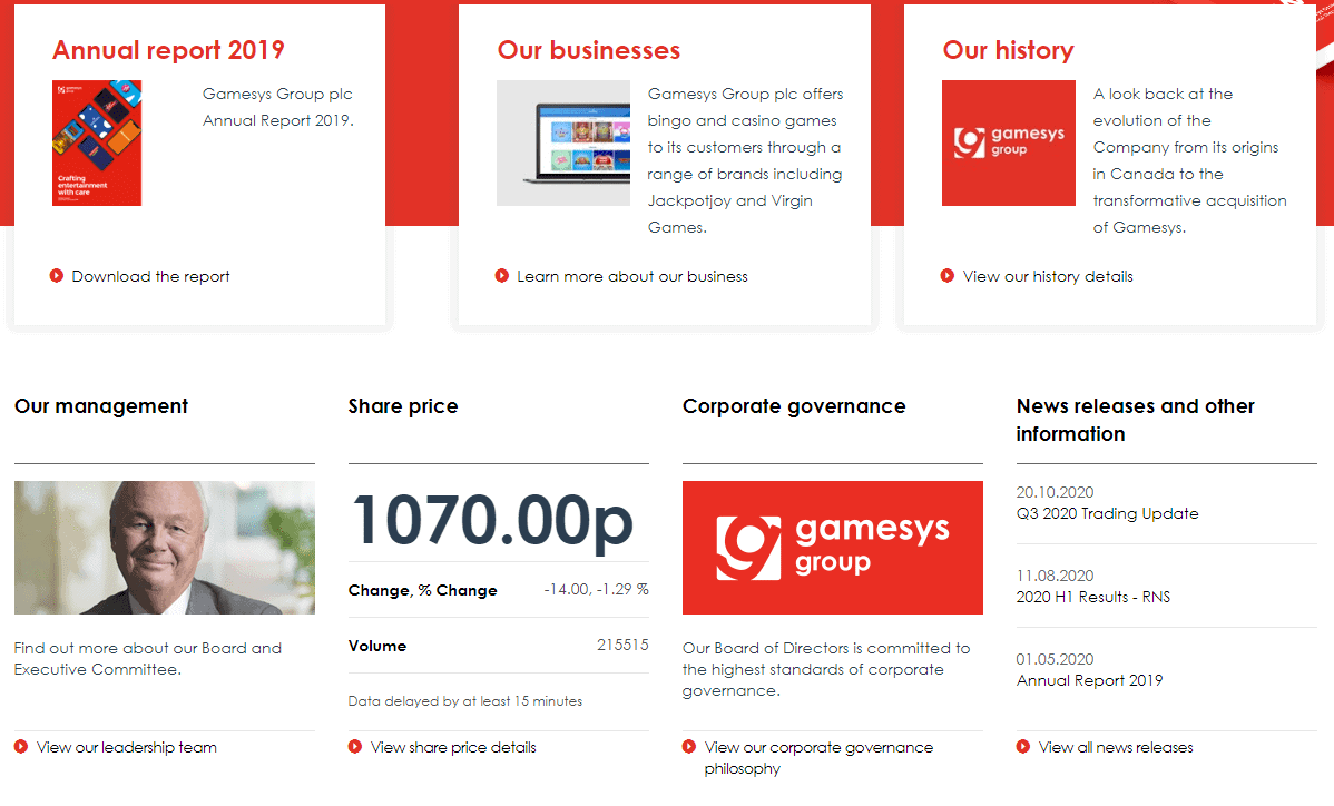 gamesys Home Promotions