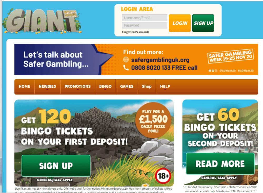 giant bingo home