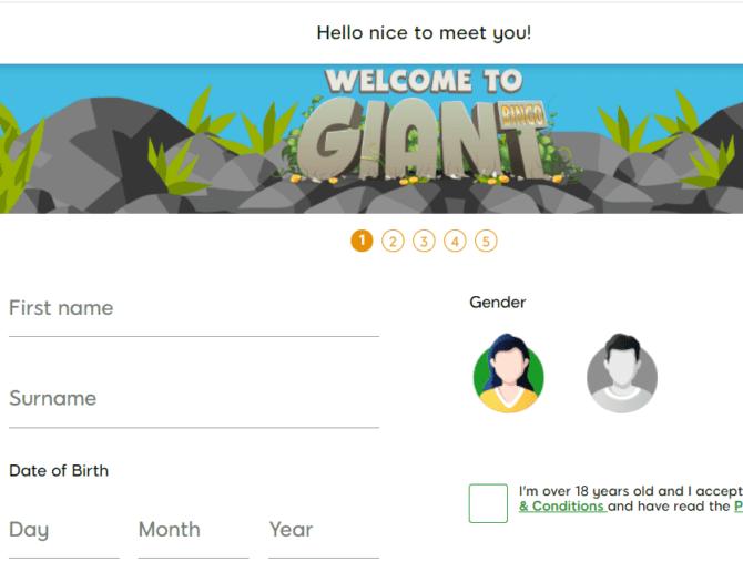 giant bingo sign up