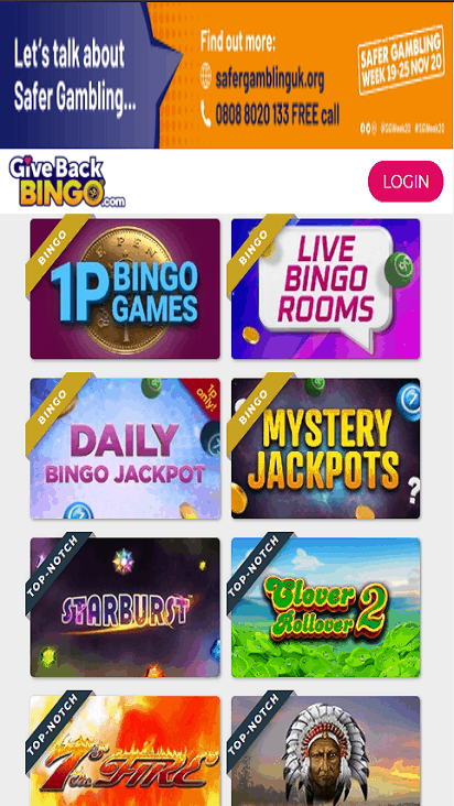 givebackbingo game mobile