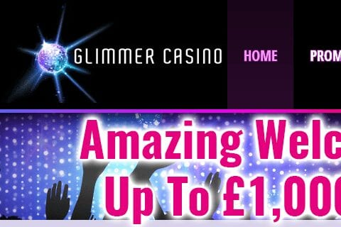 Glimmer Casino Front Page