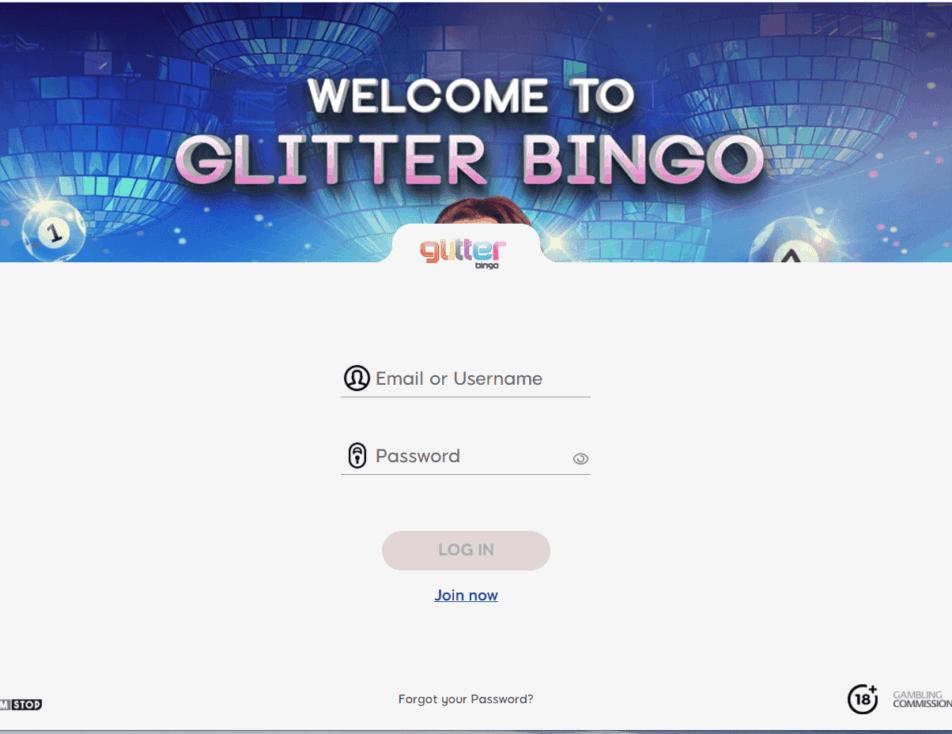 glitter bingo login