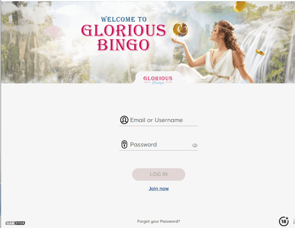 glorious bingo login