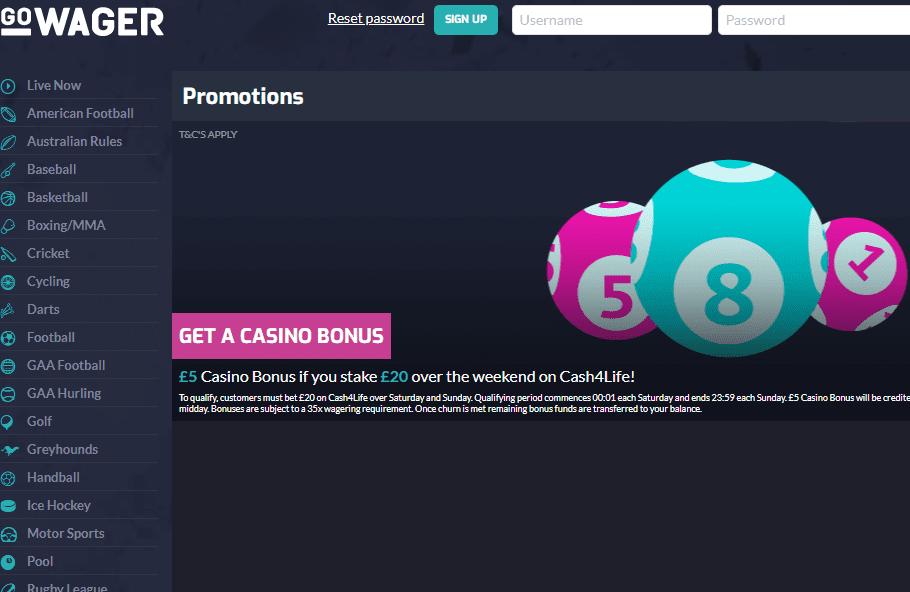 go wager promotions