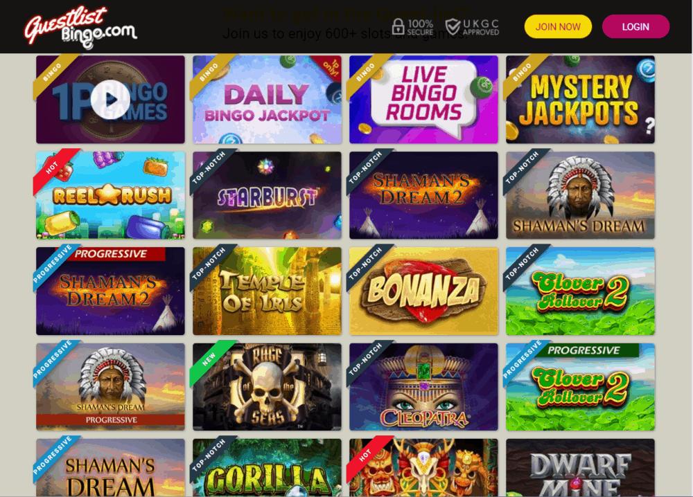 guest list bingo games