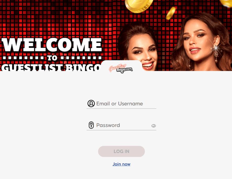 guest list bingo login