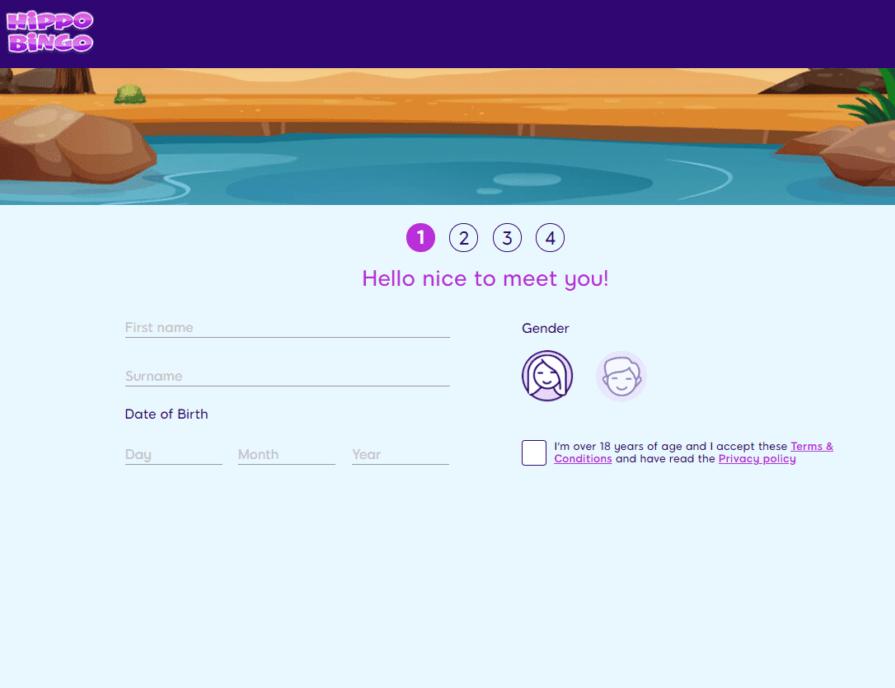hippo bingo sign up