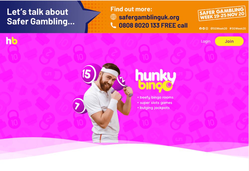 hunky bingo home