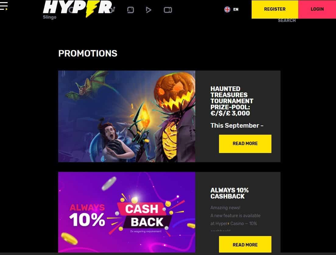 hyper casino promotions