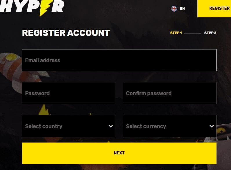 hyper casino sign up