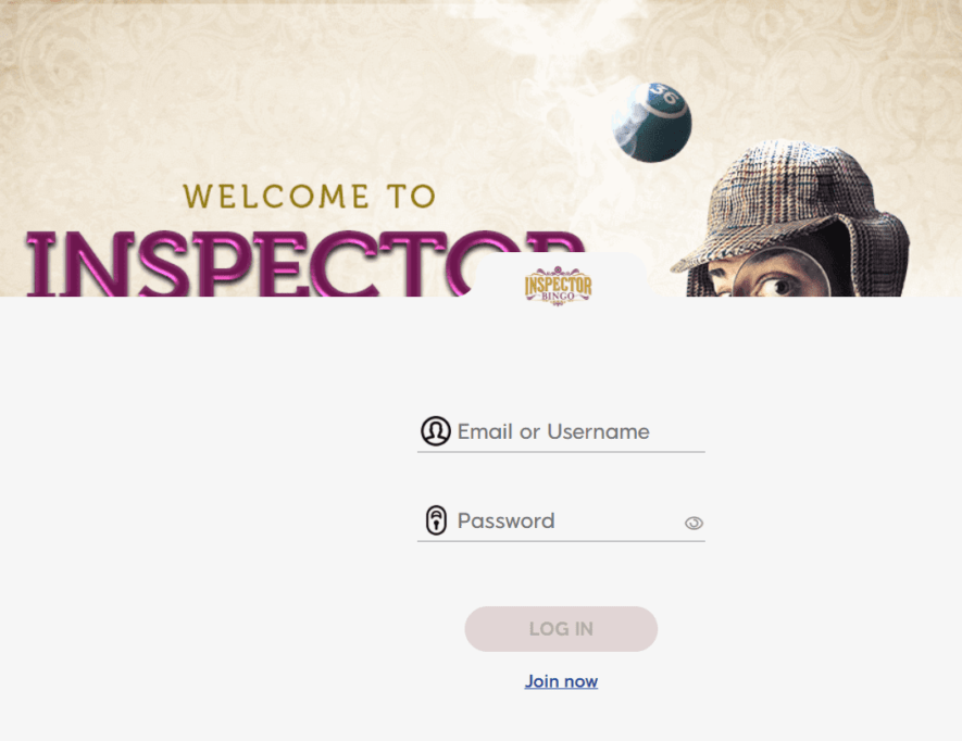 inspector bingo login