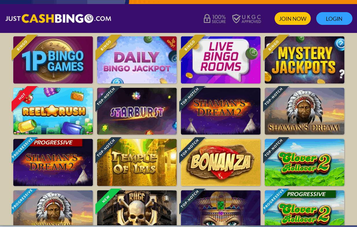 just cash bingo games