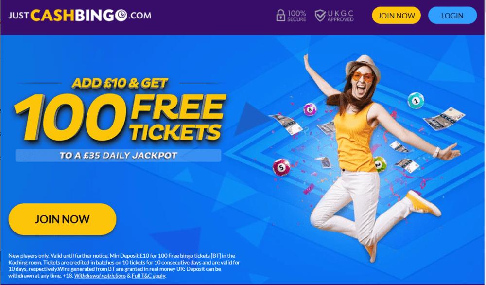 just cash bingo promo