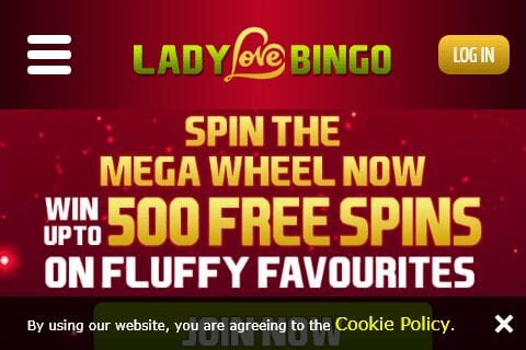lady love bingo front page
