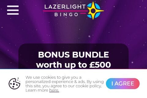 lazer light bingo front image