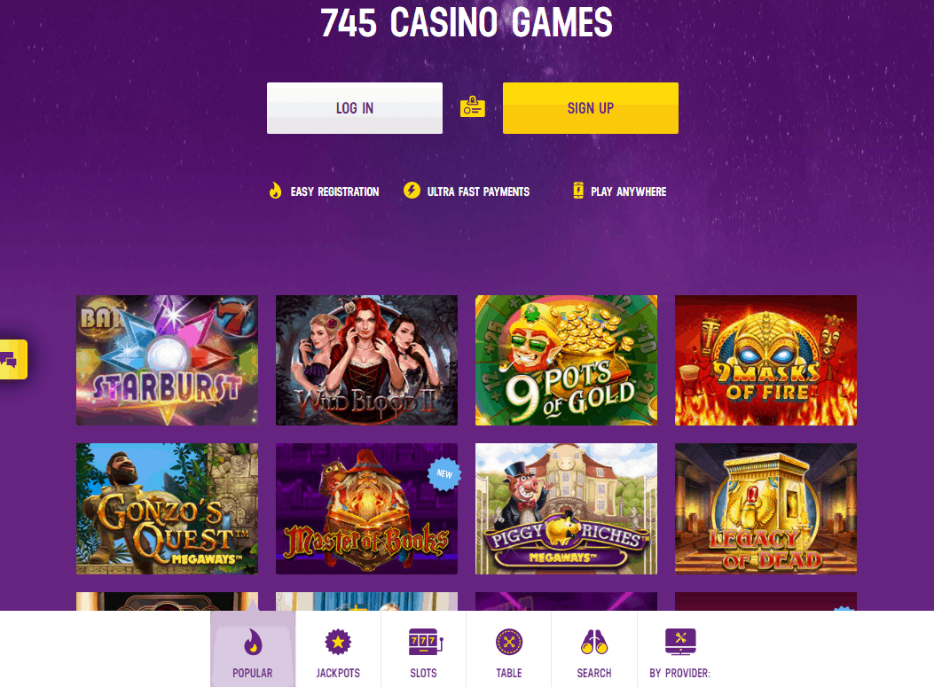 lucky casino games