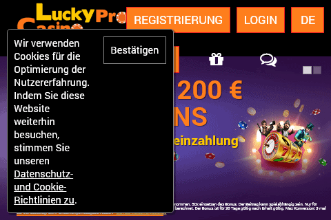 Lucky Pro Casino Home