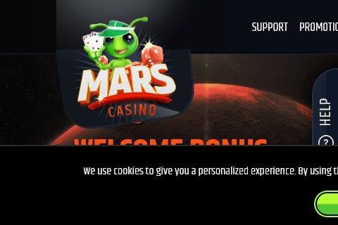 mars casino front image